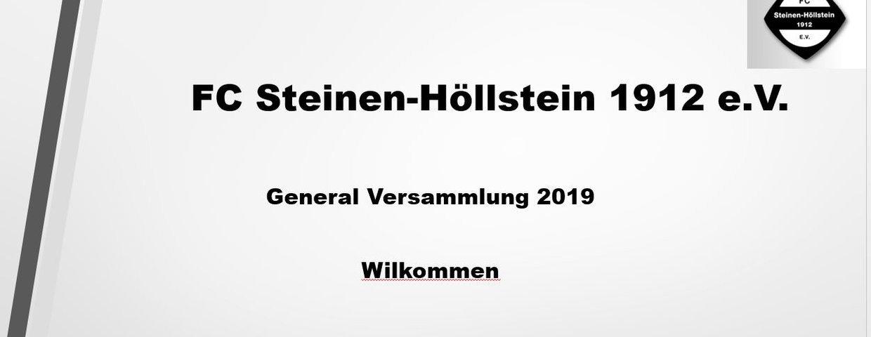 Generalversammlung am 19.07. 2019